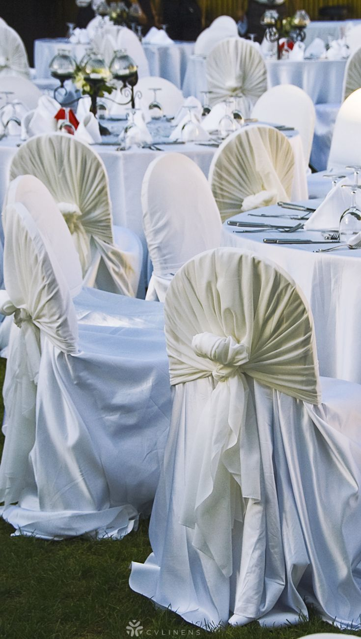 Lamour Universal Self Tie Chair Cover White Wedding Chair