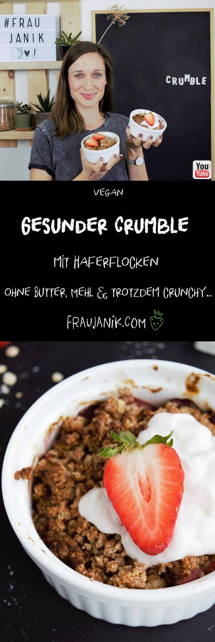 Gesundes Streusel mit Haferflocken – ohne Butter, Mehl & trotzdem knusprig … #cruc …   – rezepte