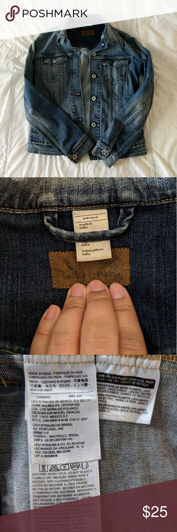 """Levi's Jean Jacket Gently and barely used Jean jacket, non smoking home, and I bought it at the Levi's store. It's called the """"Classic stretch Trucker Jacket"""" on Levi's website. Has an original fade to it but not distressed look. No holes and all functional pockets and buttons. It's durable and has a stretch to it. No Flaws. No Trades. Levi's Jackets & Coats Jean Jackets"""