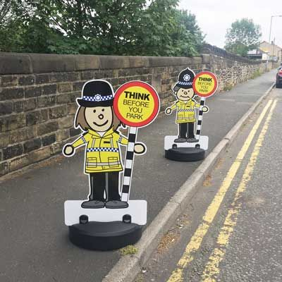 7 best school traffic safety images on pinterest cartoon traffic patrol kiddie cut out road safety pavement signs lollipop message fandeluxe Images