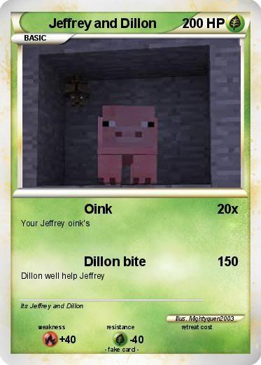 minecraft universe jason   Pokémon Jeffrey 84 84 - Oink - My Pokemon Card