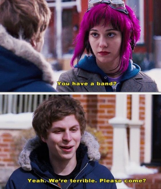 "Scott Pilgrim vs. The World review: Okay I love the beginning 8-bit universal theme so brilliant. and how at the beginning it said ""in the mysterious land of Toronto, Canada"" This movie had me laughing even though I watched it by myself. It is very quirky and unique and you may watch it and be like ""what?!"" every five seconds but it was incredibly enjoyable and if you know someone who appreciates a superhero/comedy/video game/quirky movie then pick it for your next friday night movie 8/10…"