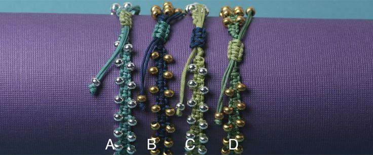 beadshop.com | Bay of Bengal~ Bollywood Macramé Bracelet