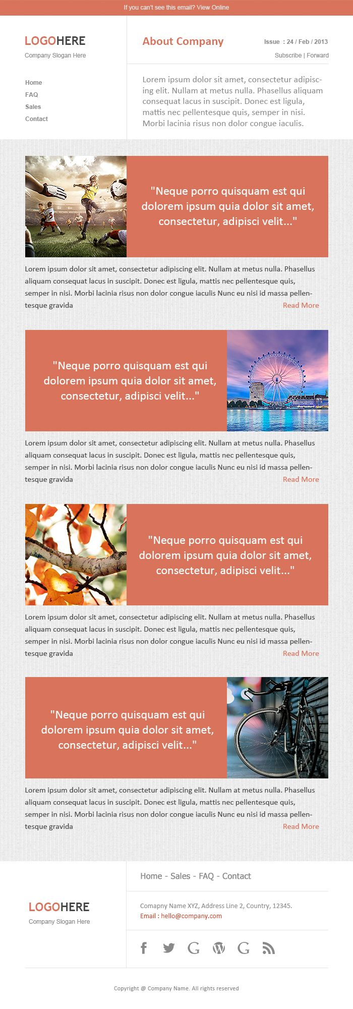 Best Newsletter Templates And Email Marketing Images On
