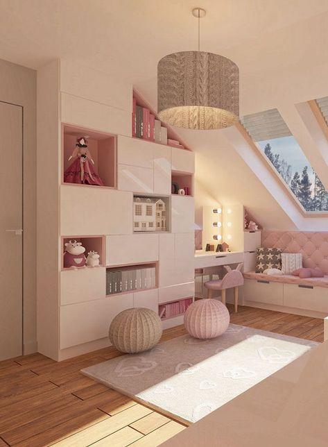 #Kinderzimmer #Mädchen #Rosa #Kindertapete #Herzen