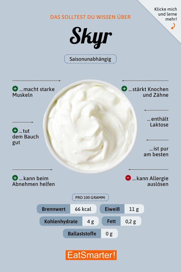 Das solltest du über Skyr wissen! | eatsmarter.de #ernährung #infografik #skyr…