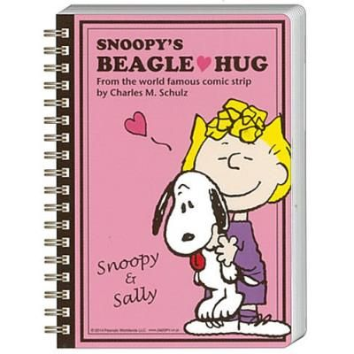 Characters shop LaughLaugh | Rakuten Global Market: Snoopy toy-W ring note B6 (Pink) ★ beaglehag ★