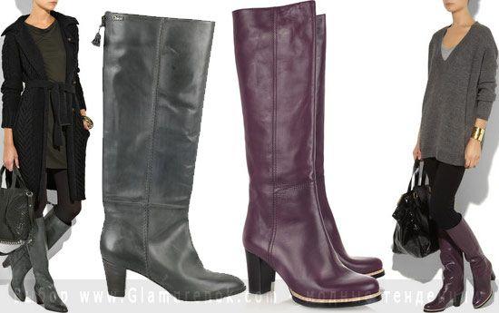 Сапоги для худых ног, сапоги для кривых ног, модные сапоги зима 2011