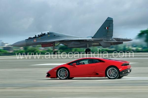 The Sukhoi Su-30MKI and Lamborghini Huracán both deliver performance and agility that's off the charts. We get them together on the same bit of tarmac
