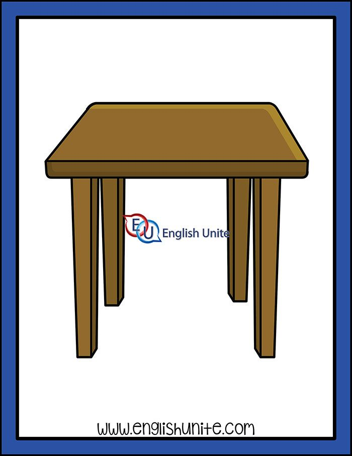House Side Table English Unite Side Table Furniture Side Tables Clip Art