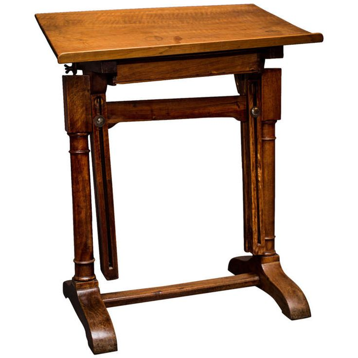Lovely Wood Drafting Table With Adjustable Height