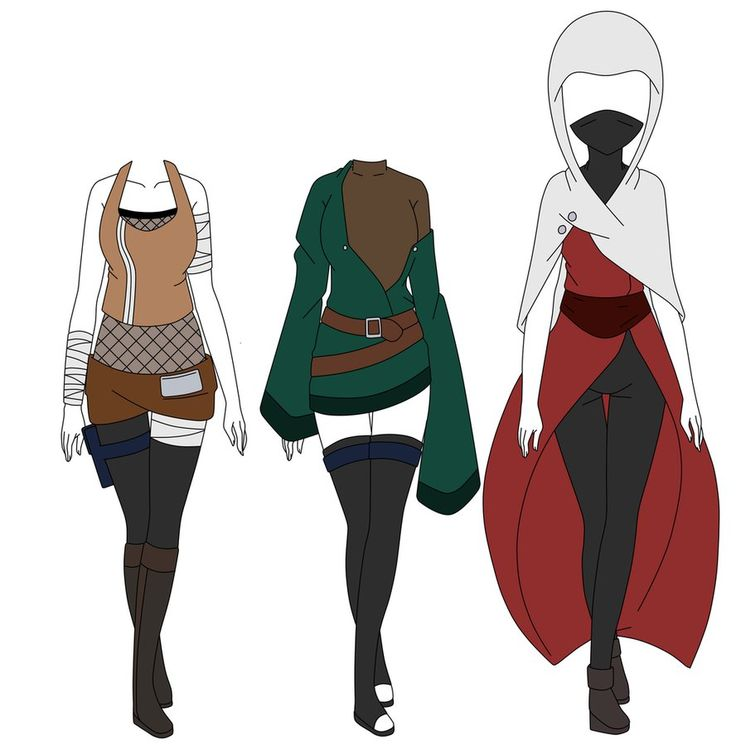 Naruto OC Outfit Adopts(CLOSED) by xMoonspirit