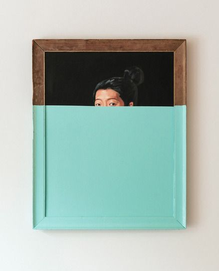 Oliver Jeffers took this canvas and dipped it, frame and all, in enamel, creating something different entirely.