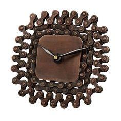 square bike chain clock