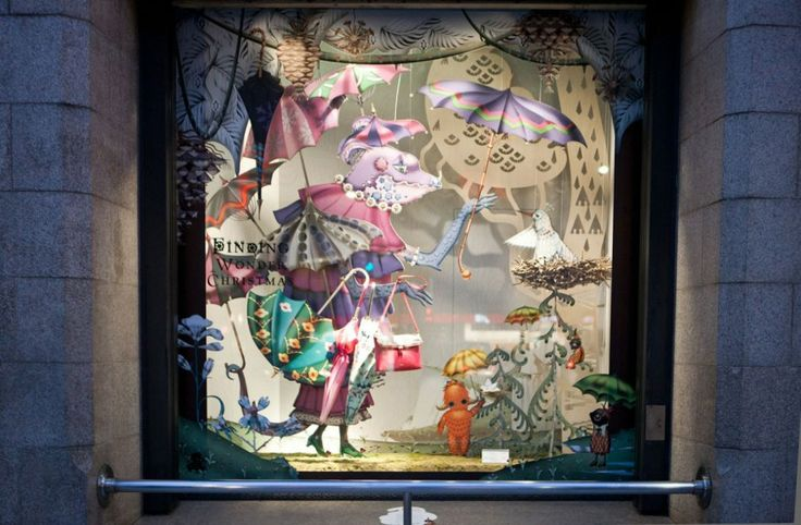 ISETAN The creatures featured in the windows are drawn by Finnish artist Klaus Happaniemi [https://www.klaush.com/about ], whose fantastical...