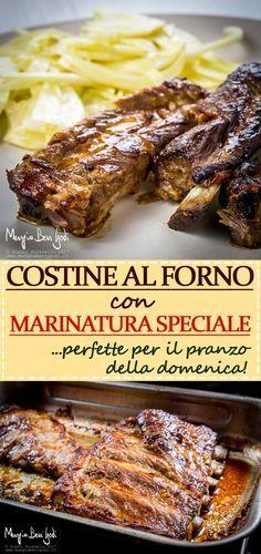 Le costine di maiale al forno con marinatura speciale sono un secondo piatto di carne semplice e saporito. Una ricetta perfetta per il pranzo della domenica.