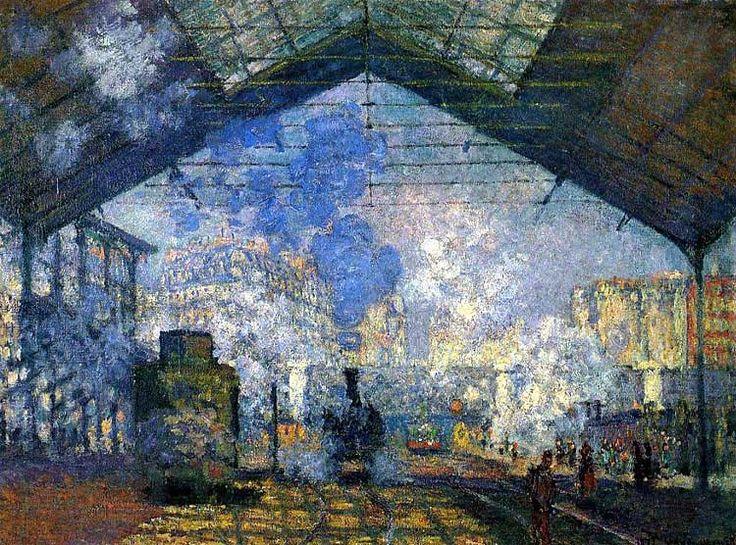 Claude Monet - gare saint lazare