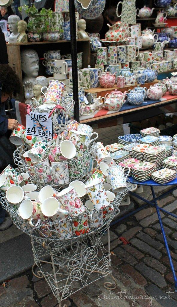 The Portobello Market in charming Notting Hill, London. girlinthegarage.net