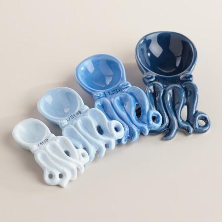 Octopus Ceramic Measuring Spoons | World Market