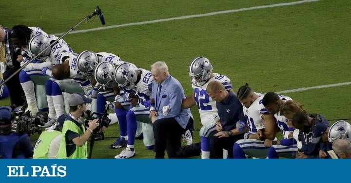 Las protestas masivas de la liga de fútbol americano, propiciadas por los insultos del presidente, superan las reivindicaciones pasadas de iconos negros