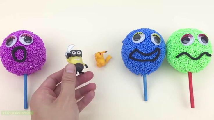 27 Learn Colors Play Foam Smiley Faces Lollipop Surprise Hello Kitty Minions Pikachu Buzz Lightyear https://youtu.be/kIKOpJ8xwPY