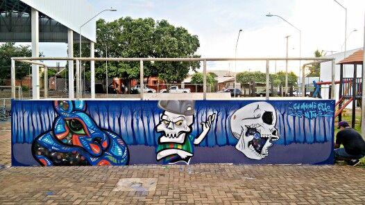Guimnomo / Celo / NTN .  Pista de skate em Mirassol - SP .  #guimnomo #cenoracoletivo #mirassol #celo #ntn #graffiti #arte #arteurbana #streetart #tinta
