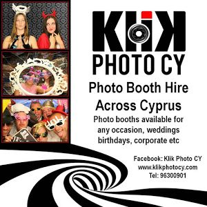 Klik Photo CY - photo booths for hire across Cyprus, a great addition to any wedding reception!