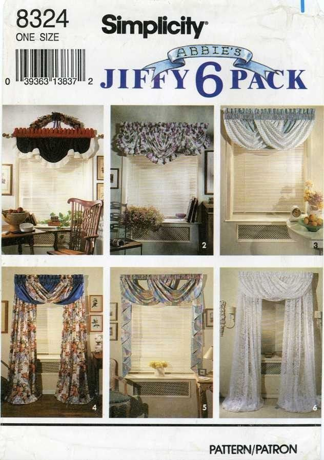Simplicity 8324 Curtain Patterns Abbie S Jiffy Six Packs