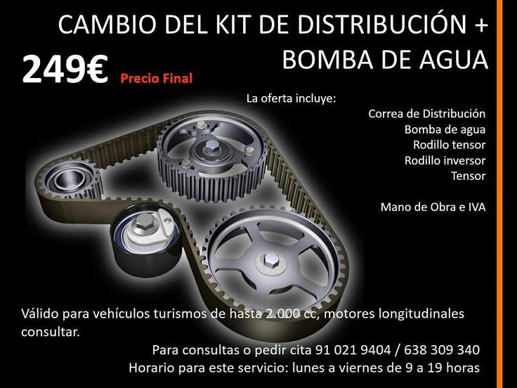 Cambio Correa de Distribución y bomba de agua 249€