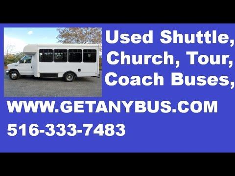 Used Bus For Sale | 2006 Ford E450 Non-CDL Wheelchair Shuttle Used Bus For Sale for your SENIOR TRANSPORT - Safety equipment is located throughout the bus including seatbelts for all passengers. 12 PASSENGER SEATS WITH SEAT BELTS, ARMREST AND GRAB HANDLES. Up to 2 wheelchair positions. For more information on Used Bus FOr Sale call CHARLIE at 516-333-7483 or visit us at www.getanybus.com