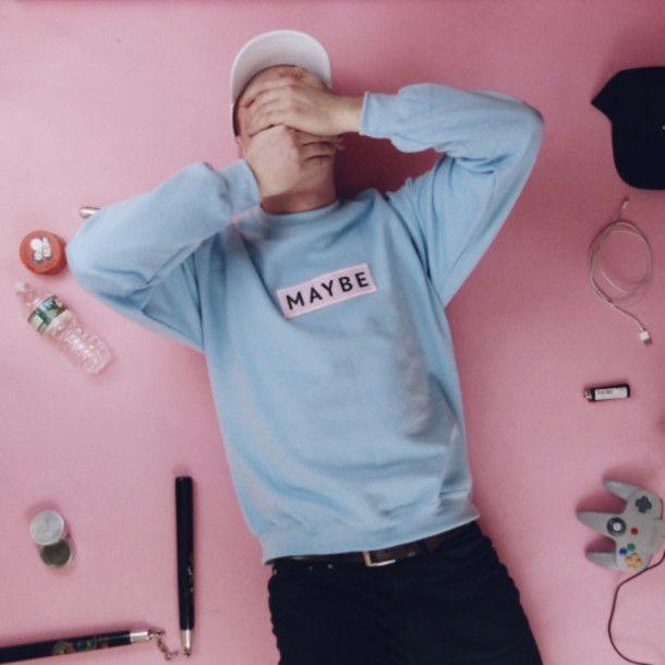 Sweater: fashion, pastel sweater, pastel, tumblr, menswear, mens sweater, tumblr girl, tumblr sweater, aesthetic - Wheretoget