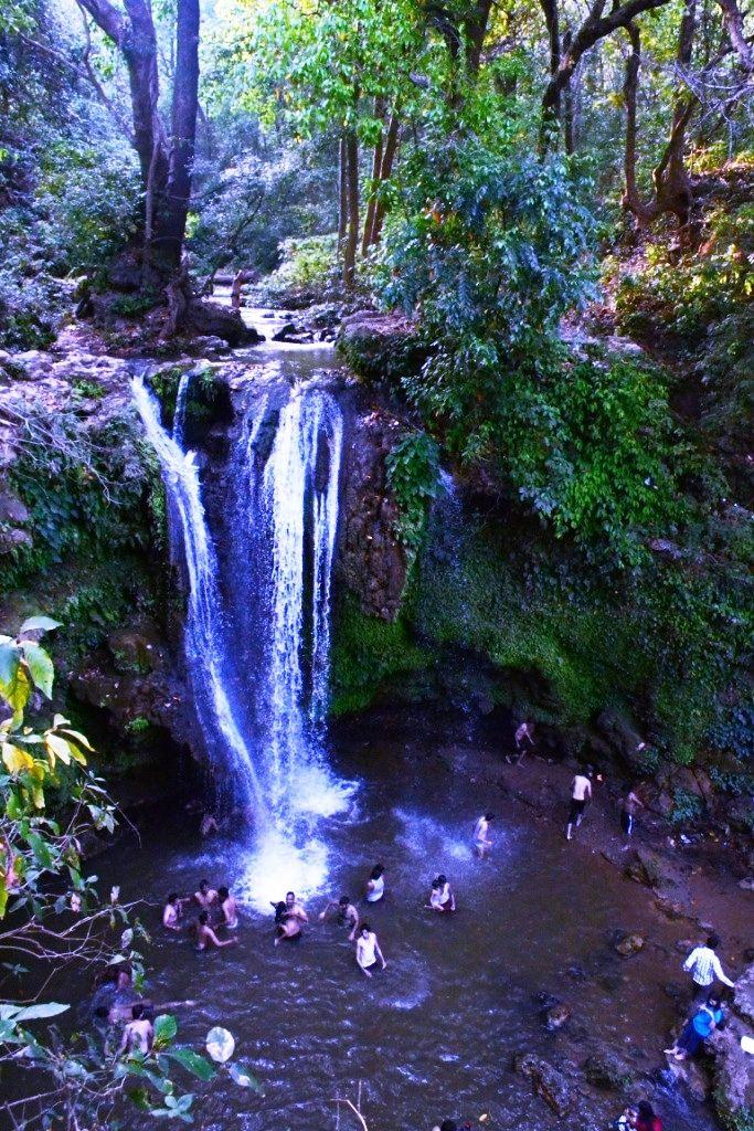 Corbett Falls in Jim Corbett National Park, Uttarakhand
