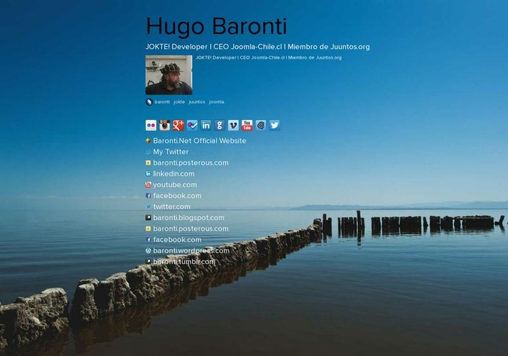 Hugo Baronti's page on about.me – http://about.me/baronti