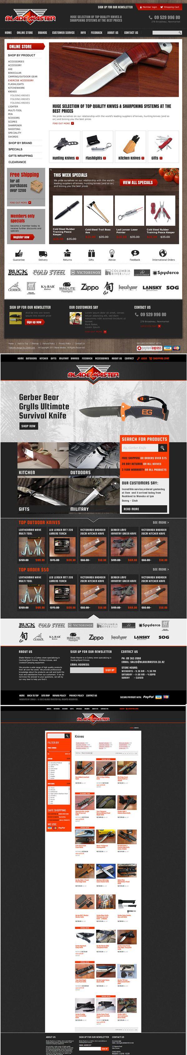 Blade Master website redesign