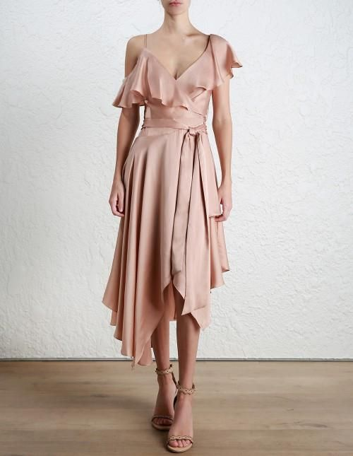 c366c7835c59 ZIMMERMANN Sueded Asymmetric Wrap Dress (Nude) – Coco Wellington ...