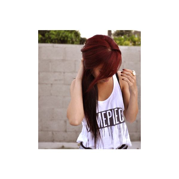 Love this color red. I could rock this. Red Hair Shades-every red hair shade imaginable found on Polyvore