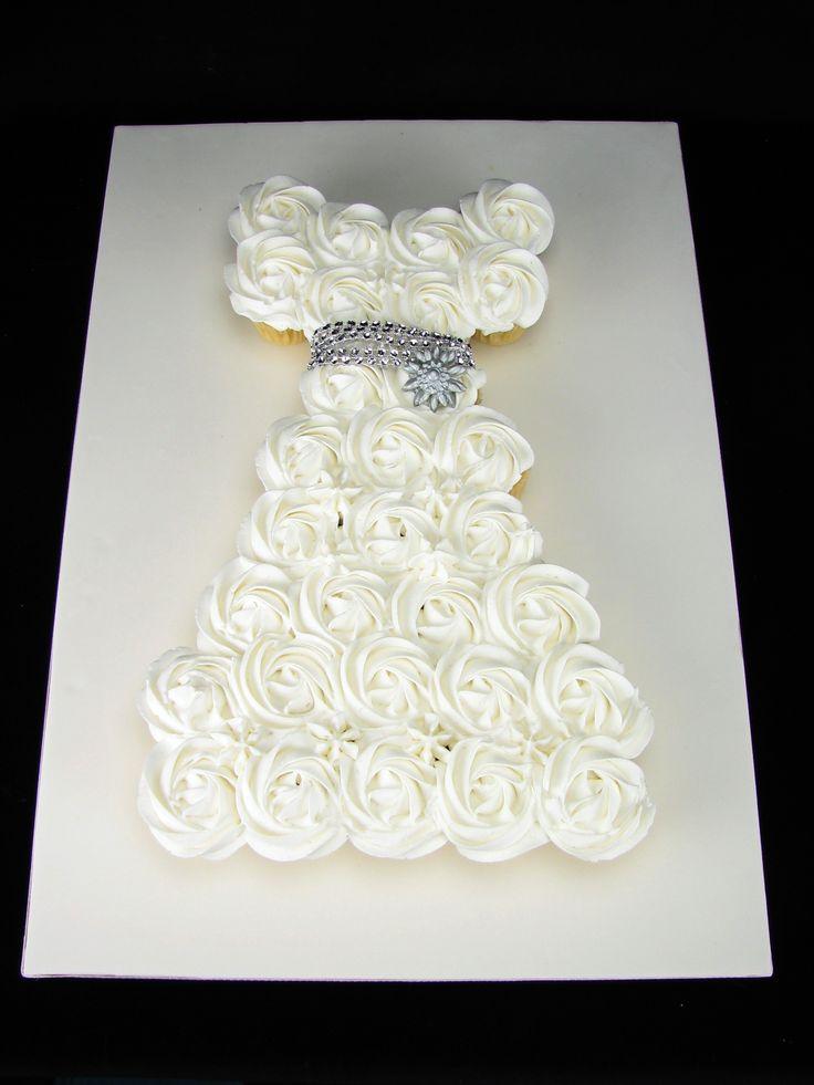 Cupcake Wedding Dress. Mini vanilla cupcakes for a Hen's Night.
