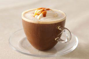 Café au caramel de barista