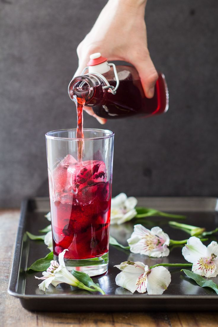 Agua de Jamaica is a typically Mexican nonalcoholic beverage served in any restaurant. It is simply sweet hibiscus ice tea and tastes absolutely delicious.