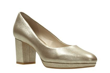 Clarks Kelda Hope - Gold Metallic - Womens Smart Shoes   Clarks