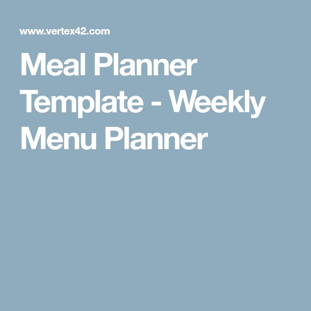 Best 25+ Menu planning templates ideas on Pinterest Monthly meal - menu planner templates