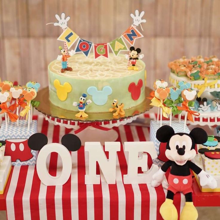 Best Mickey Mouse Party Ideas Images On Pinterest Mickey - Mickey birthday cake ideas