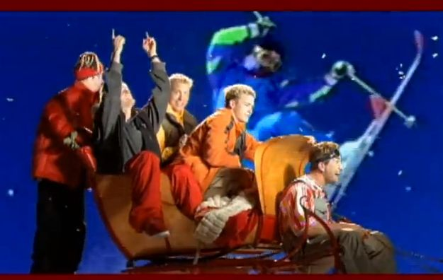 """Where did the giant skiing man come from? 