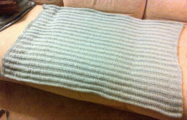 Seafoam Garter-Ribbed Baby Blanket