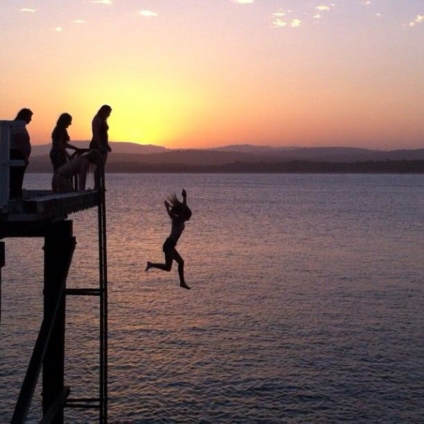 Merimbula Wharf at sunset