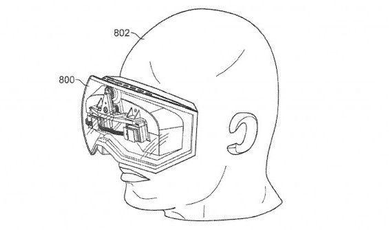 """Apples vermeintliche Computerbrille names """"iGlasses"""" Bildquelle: US ..."""