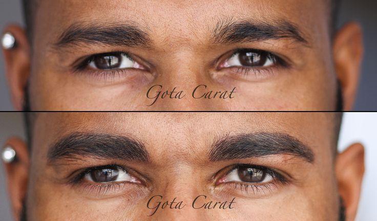 Avant/Après sourcils homme. Maquillage permanent microblading.