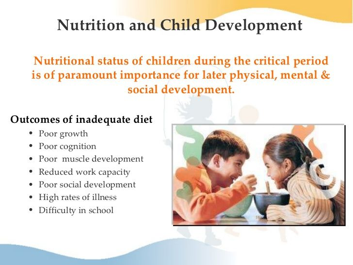 why Good Nutrition Is Important for Children ?  What type of outcome will come if they take inadequate diet? Children are at a time in their life when they are constantly growing and learning. Children afflicted by sustained poor nutrition are at greater risk for obesity, mental and emotional health problems, and a failure to thrive academically.  so they explain why right amount of nutrient is important and what are the pros  of balanced diet and cons of poor nutrients.