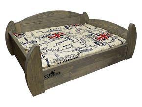 Dřevěné postýlky pro psy a matrace a polštáře od SKYWANDER