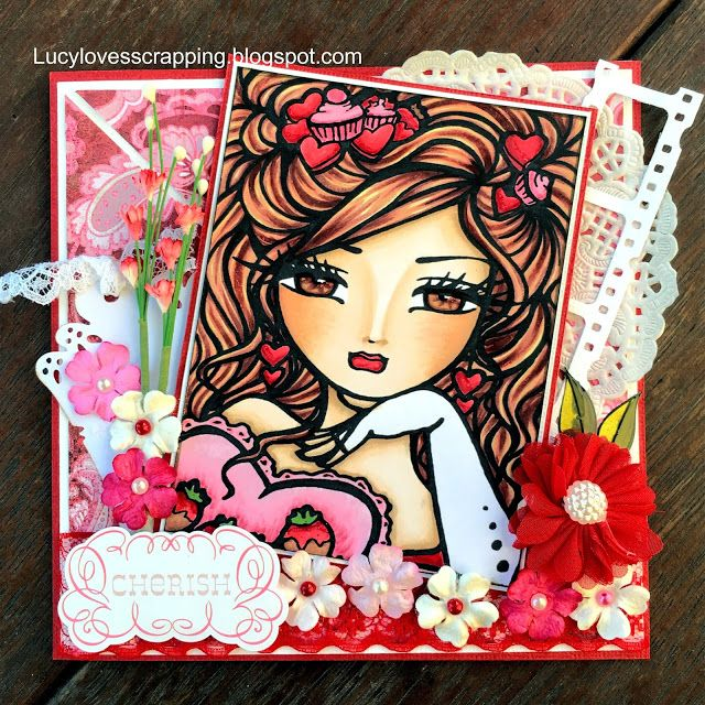 Lucy loves scrapping: Crafts and Me digi Hannah Lynn love handmade card